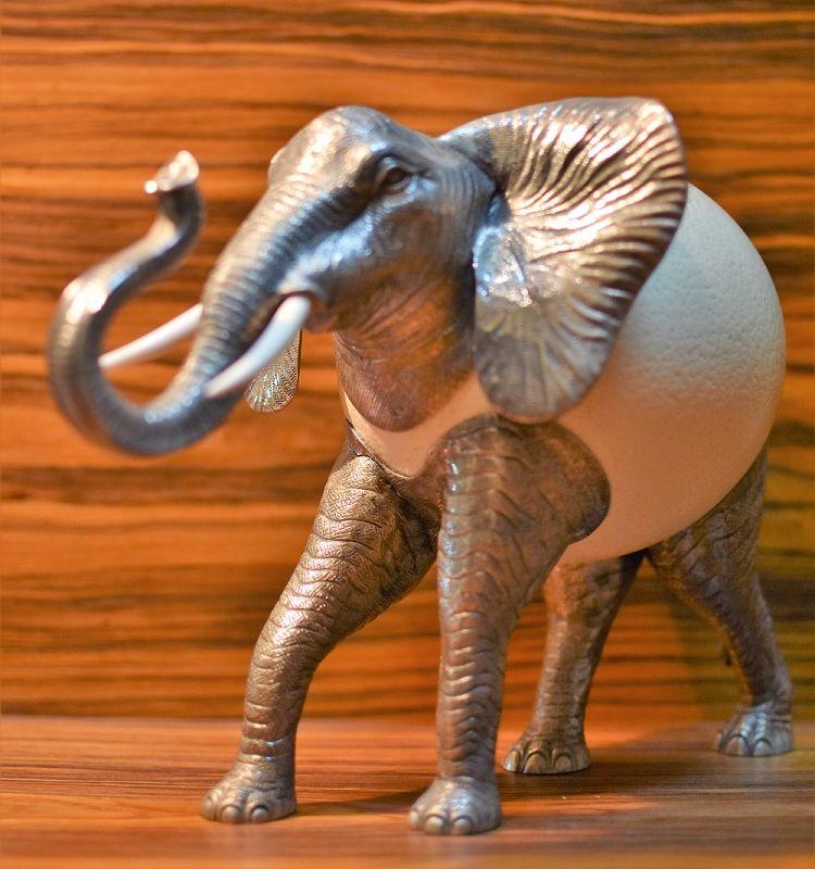 Elefante em prata